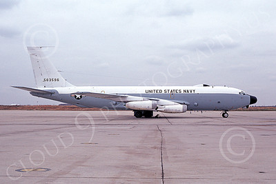 C-135USN 00005 A static Boeing NKC-135A USN 563596 NAF Wash 10-1981 military airplane picture by Gene Mitton