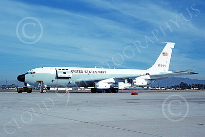 C-135USN 00003 A static Boeing C-135 USN 55134 12-1990 military airplane picture by Vance Vasquez