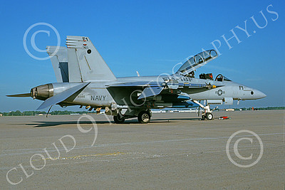 Boeing F-18F-USN 00005 A static Boeing F-18F Super Hornet USN 165166 prototype 5-1998 military airplane picture by Michael Grove, Sr