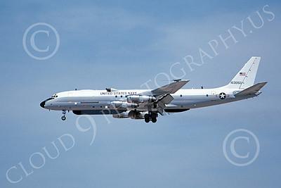 Convair 880USN 00006 A landing Convair 880 USN 163050 4-1995 military airplane picture by Michael Grove, Sr