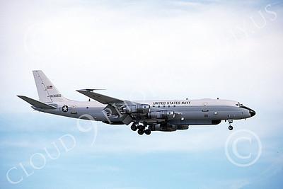 Convair 880USN 00002 A landing Convair 880 USN 163050 4-1995 military airplane picture by Michael Grove, Sr