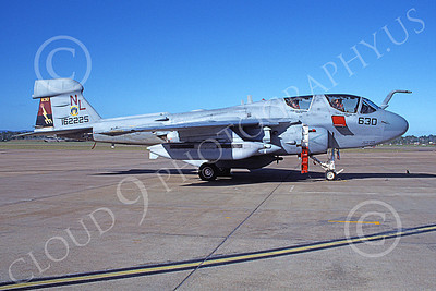 EA-6BUSN 00309 A static Grumman EA-6B Prowler USN 162225 VAQ-133 WIZARDS 3-1979 military airplane picture by Michael Grove, Sr