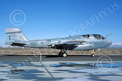 EA-6BUSN 00321 A taxing Grumman EA-6B Prowler USN 159587 VAQ-133 WIZARDS USS Enterprise NAS Fallon 2-1985 military airplane picture by Michael Grove, Sr
