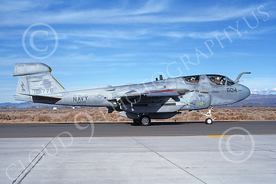 EA-6BUSN 00319 A taxing Grumman EA-6B Prowler USN 181776 VAQ-133 WIZARDS USS Coral Sea NAS Fallon 3-1987 military airplane picture by Michael Grove, Sr