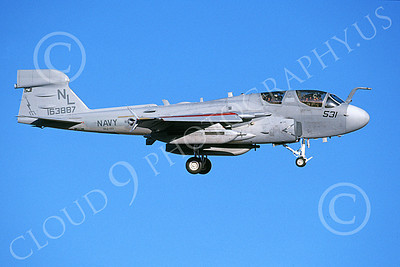 EA-6BUSN 00310 A landing Grumman EA-6B Prowler USN 161887 VAQ-133 WIZARDS 9-2001 military airplane picture by Michael Grove, Sr