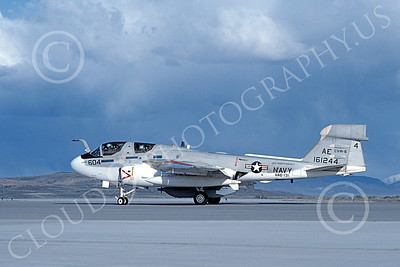 EA-6BUSN 00315 A taxing Grumman EA-6B Prowler USN 161244 VAQ-131 LANCERS USS Independence NAS Fallon 4-1983 military airplane picture by Michael Grove, Sr