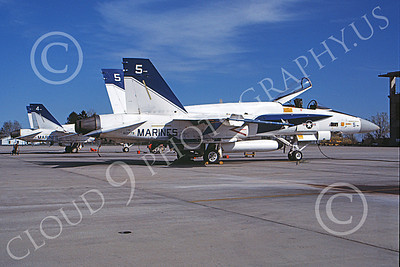McDonnell Douglas F-18A-USN 00021 A static white McDonnell Douglas F-18A Hornet USN 160779 NAS Pax River 3-1981 military airplane picture by Robert L Lawson