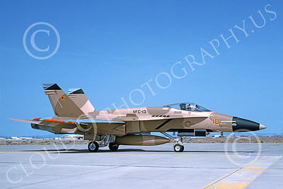 McDonnell Douglas F-18A-USN 00059 A taxing McDonnell Douglas F-18A Hornet USN 161732 VFC-13 SAINTS NAS Fallon 4-1994 military airplane picture by Michael Grove, Sr