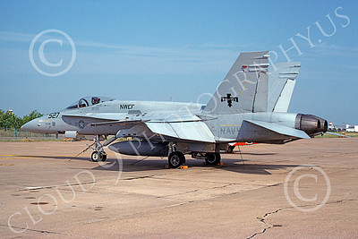 McDonnell Douglas F-18A-USN 00015 A static McDonnell Douglas F-18A Hornet USN 161527 jet fighter NWEF Naval Weapons Evaluation Facility 8-1991 military airplane picture by Michael Grove, Sr