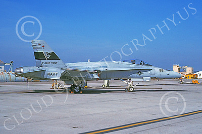 McDonnell Douglas F-18A-USN 00019 A static McDonnell Douglas F-18A Hornet USN 163490 PMTC Flight Test NAS Pt Mugu 2-1991 military airplane picture by Vance Vasquez