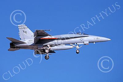 McDonnell Douglas F-18A-USN 00070 A landing McDonnell Douglas F-18A Hornet USN VX-4 THE EVALUATORS 7-1988 military airplane picture by Michael Grove, Sr