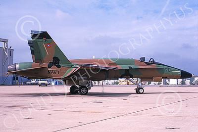 TOPG 00019 A static brown green black McDonnell Douglas F-18A Hornet USN 161716 TOP GUN NAS Miramar 5-1995 military airplane picture by Michael Grove, Sr