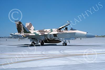 TOPG 00089 A static McDonnell Douglas F-18A Hornet USN 162879 TOP GUN NAS Fallon 6-1996 military airplane picture by Michael Grove, Sr