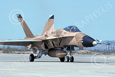 McDonnell Douglas F-18A-USN 00061 A taxing brown McDonnell Douglas F-18A Hornet USN 161732 VFC-13 SAINTS NAS Fallon 4-1994 military airplane picture by Michael Grove, Sr