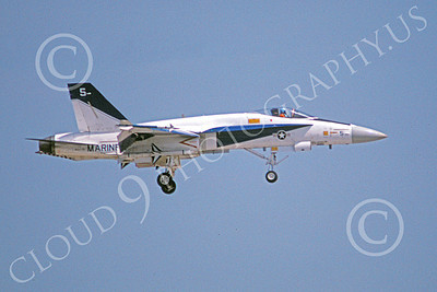 McDonnell Douglas F-18A-USN 00050 A landing McDonnell Douglas F-18A Hornet USN 160779 NATC 5-1981 military airplane picture by Barry Roop