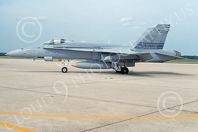Boeing F-18C-USN 00043 A static Boeing F-18C Hornet USN 164867 NAWC 8-1994 military airplane picture by Michael Grove, Sr