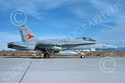 Boeing F-18C-USN 00065 A taxing colorful Boeing F-18C Hornet USN 163477 VFA-81 SUNLINERS USS Saratoga NAS Fallon 3-1995 military airplane picture by Michael Grove, Sr