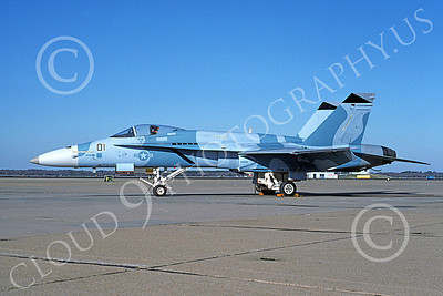 Boeing F-18C-USN 00121 A static blue Boeing F-18C Hornet USN 162472 VFC-12 OMARS NAS Oceana 1-1994 military airplane picture by Michael Grove, Sr
