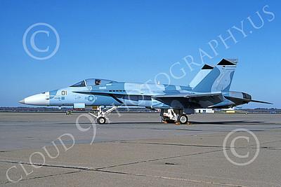 Boeing F-18C-USN 00121 A static blue Boeing F-18C Hornet USN 162472 VFC-12 OMARS NAS Oceana 1-1994 military airplane picture by Michael Grove, Sr
