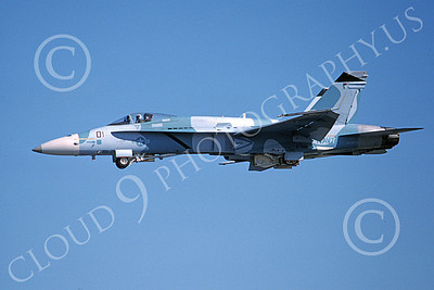 Boeing F-18C-USN 00158 A flying blue Boeing F-18C Hornet USN 162472 VFC-12 OMARS 1-1994 military airplane picture by Michael Grove, Sr
