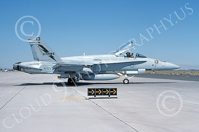 Boeing F-18C-USN 00105 A taxing Boeing F-18C Hornet USN 161941 STRIKE NAS Fallon 10-1991 military airplane picture by Michael Grove, Sr