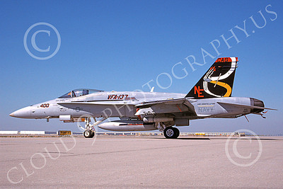 Boeing F-18C-USN 00095 A static colorful Boeing F-18C Hornet USN 164712 VFA-137 KESTRELS USS Constellation CAG NAS Lemoore 7-1990 military airplane picture by Michael Grove, Sr