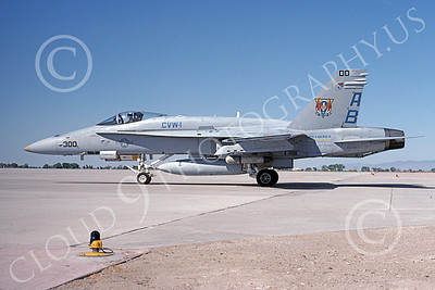 Boeing F-18C-USN 00035 A taxing Boeing F-18C Hornet USN 163467 jet fighter USS America NAS Fallon 8-1991 military airplane picture by Michael Grove, Sr