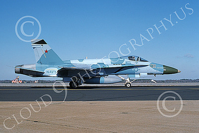Boeing F-18C-USN 00053 A taxing blue Boeing F-18C Hornet USN 162859 VFC-12 OMARS NAS Oceana 1-1994 military airplane picture by Michael Grove, Sr