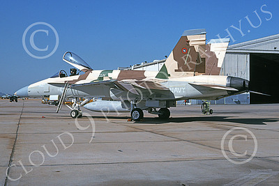 TOPG 00115 A static McDonnell Douglas F-18C Hornet USN 162879 TOP GUN NAS Miramar 10-1995 military airplane picture by David F Brown