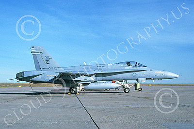 Boeing F-18C-USN 00033 A static Boeing F-18C Hornet USN 165172 Weapons Test Squadron NAS China Lake 11-1990 military airplane picture by Michael Grove, Sr