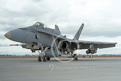 Boeing F-18C-USN 00063 A static Boeing F-18C Hornet USN 164253 VFA-37 BULLS with ordnance NAS Fallon 3-1992 military airplane picture by Michael Grove, Sr