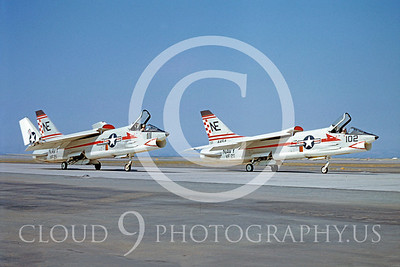 F-8USN 00017 Vought F-8 Crusader VF-211 by William T Larkins