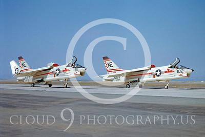 F-8USN 00017 Vought F-8 Crusader VF-211 by William T Larkins