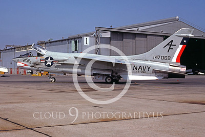 F-8USN 00007 Vought F-8 Crusader VF-202 July 1975 by Peter B Lewis