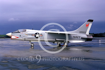 F-8USN 00009 Vought F-8E Crusader NATC Andrews AFB May 1965 by Frank MacSorley