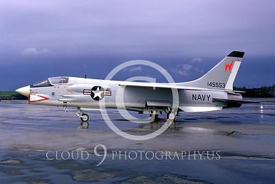 F-8USN 00009 Vought F-8E Crusader NATC Andrews AFB May 1965 by Frank MacSorley