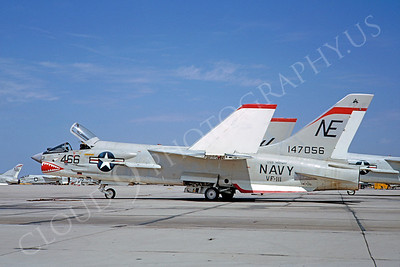 SM 00099 Vought F-8 Crusader USN 147056 VF-111 USS Midway September 1964 NAS Miramar by Clay Jansson