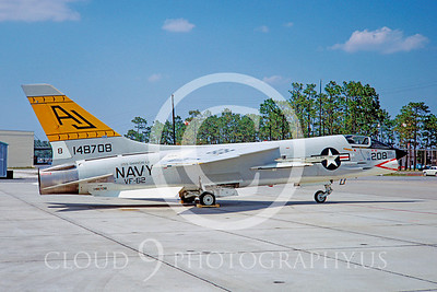 F-8USN 00019 Vought F-8 Crusader VF-62 USS Shangrila Aug 1967 by Peter B Lewis