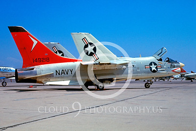 F-8USN 00005 Vought F-8E Crusader NATC Miramar 26 Aug 1967 by Bud Donato