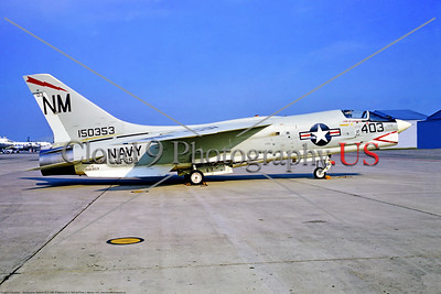 F-8-USN-VF-194 002 A static Vought F-8E Crusader, USN Vietnam War era jet fighter, 150353, VF-194 RED LIGHTNINGS, NM tail code, military airplane picture by Stephen W D Wolf     853_4967     Dt