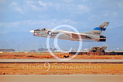 F-8USN 00002 Vought F-8 Crusader Pacific Missile Test Center Nov 1977 by Peter J Mancus