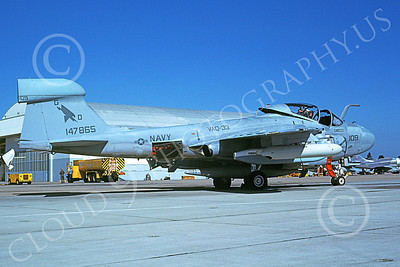 EA-6AUSN 00013 A static Grumman EA-6A Prowler USN 147865 VAQ-33 FIREBIRDS NAS Miramar 11-1983 military airplane picture by Michael Grove, Sr