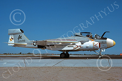 EA-6AUSN 00031 A taxing Grumman EA-6A Prowler USN 151596 VAQ-309 AXEMEN NAS Fallon 9-1981 military airplane picture by Michael Grove, Sr