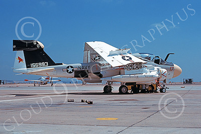 EA-6AUSN 00009 A static Grumman EA-6A Prowler USN 156993 VAQ-33 FIREBIRDS NAS Miramar 8 Aug 1979 military airplane picture by Tom Chee