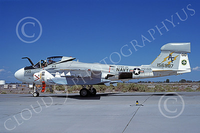 EA-6AUSN 00016 A taxing Grumman EA-6A Prowler USN 156987 VAQ-209 STAR WARRIORS commanding officer's NAS Fallon 8-1984 military airplane picture by Michael Grove, Sr