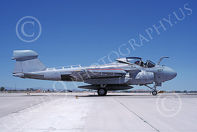 EA-6AUSN 00003 A taxing low vis gray paint scheme Grumman EA-6A Prowler USN 156984 NAS Fallon 8-1988 military airplane picture by Michael Grove, Sr