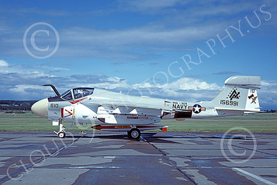 EA-6AUSN 00026 A taxing Grumman EA-6A Prowler USN 156991 VAQ-309 AXEMEN 6-1980 military airplane picture by Michael Grove, Sr