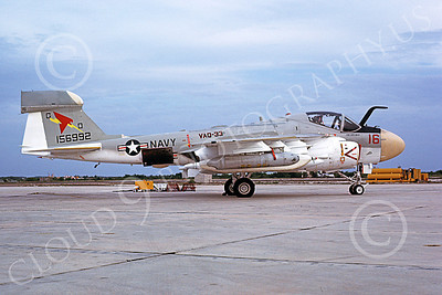 EA-6AUSN 00011 A static Grumman EA-6A Prowler USN 156992 VAQ-33 FIREBIRDS NAS Key West 4-1980 military airplane picture by Michael Grove, Sr