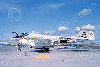 EA-6AUSN 00032 A taxing Grumman EA-6A Prowler USN 156989 VAQ-309 AXEMEN NAS Fallon 5-1983 military airplane picture by Michael Grove, Sr