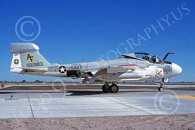 EA-6AUSN 00021 A taxing Grumman EA-6A Prowler USN 156983 VAQ-209 STAR WARRIORS NAS Fallon 7-1981 military airplane picture by Michael Grove, Sr